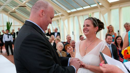 Mr Fulton and Claire were married, following his big win.
