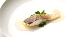 Mark Best's steamed Murray cod with pink onions, capers and lemon balm