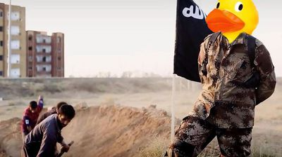 """""""Would you rather fight 1,000 duck-sized Isis members, or one Isis-sized duck?"""" another 4Chan user wrote."""