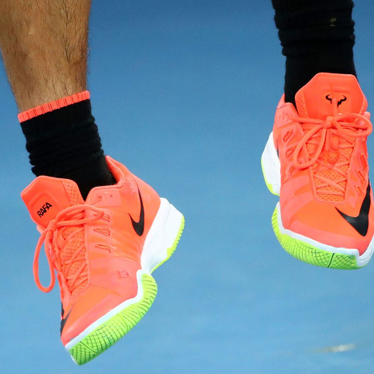 The Real Highlight Of The Federer Nadal Final Their Shoes 9coach