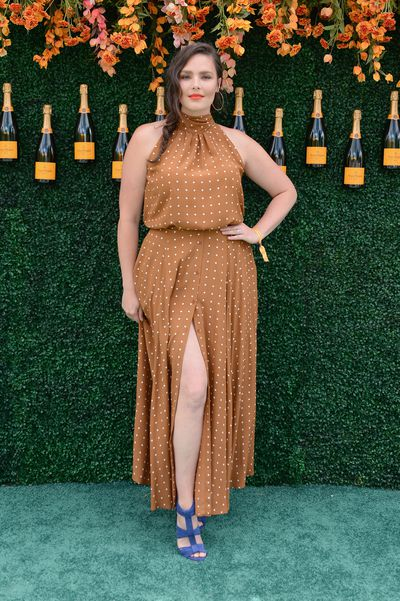 Candice Huffman in the Pretty Woman inspired Diance Von Furstenberg dress at the Veuve Clicquot Polo Classic in New York.