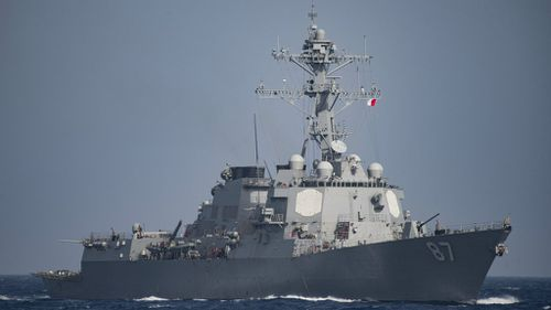 Missiles fired again at US warship near Yemen
