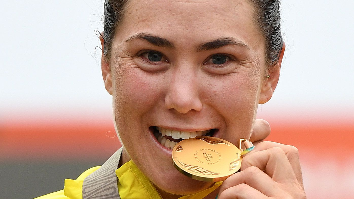 Commonwealth Games 2018: Chloe Hosking takes road cycling gold
