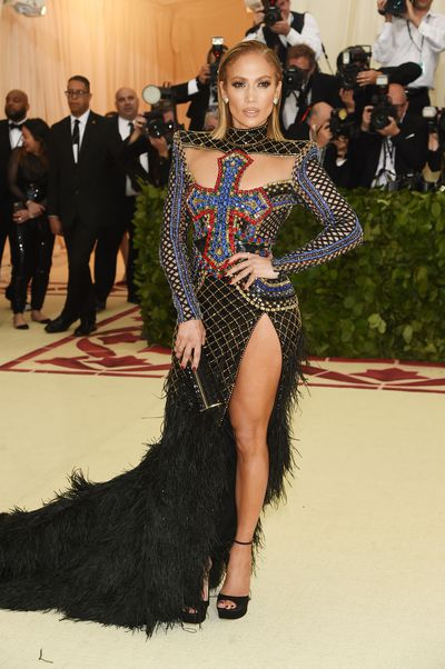 <p>A feathery designer gown that features her legs sticking out is a Jennifer Lopez special and could potentially have been yawn-worthy, if this Balmain concoction didn't hit all the right notes of sex appeal, silhouette and theme. </p> <p>A close save by Jen.</p> <p>&nbsp;</p>