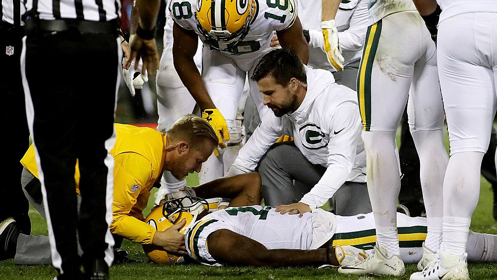 NFL to review helmet hit by Chicago Bears linebacker Danny Trevathan on Green Bay Packers receiver Davante Adams