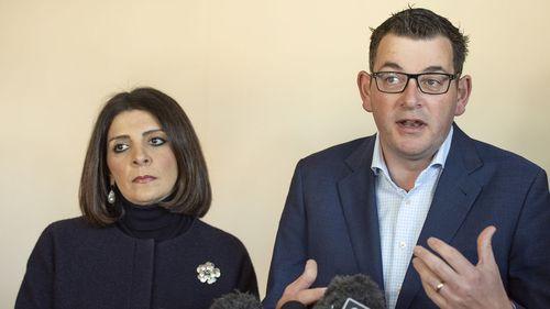 Victorian Premier Daniel Andrews and Consumer Affairs Minister Marlene Kairouz.
