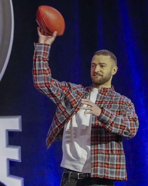 Justin Timberlake is performing at half time. (AAP)
