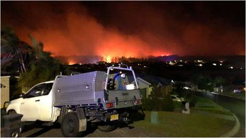 Fire crews are tackling a blaze in Lake Macquarie's Belmont area.