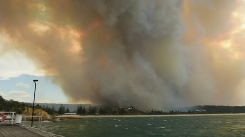 The RFS said conditions have eased this morning after Sunday afternoon's blaze