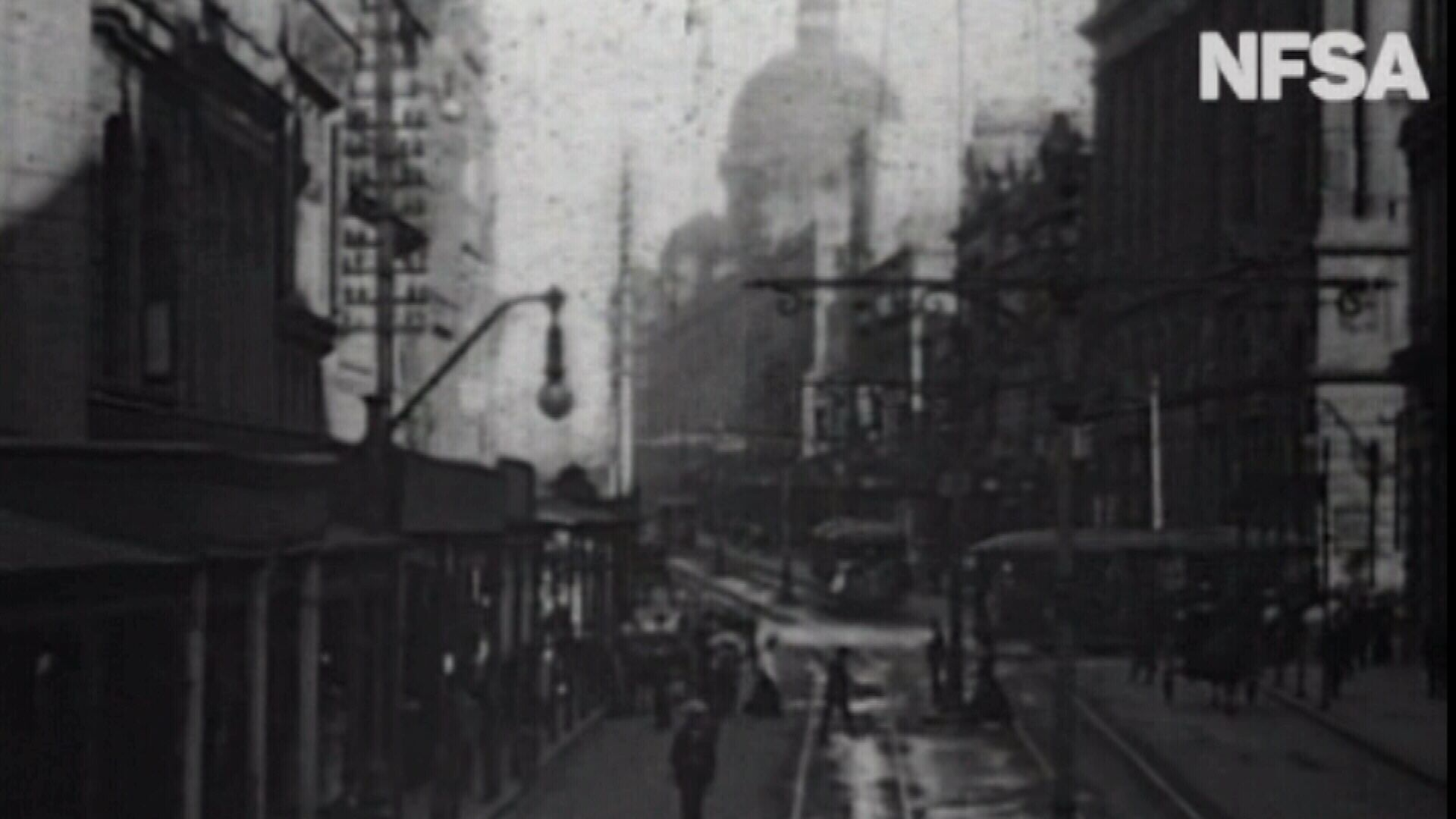 Sydney's tramlines in 1906.