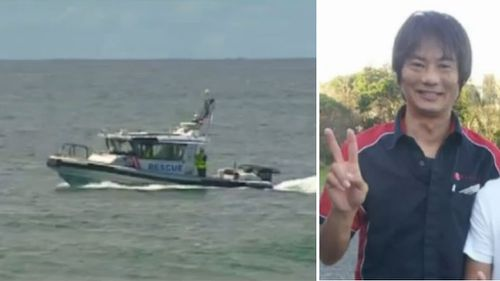 Water police scour the area where Tadashi Nakahara was attacked. (9NEWS/supplied)