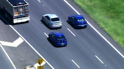 Heavy vehicles on the Bruce Highway proved a particular danger. (9NEWS)