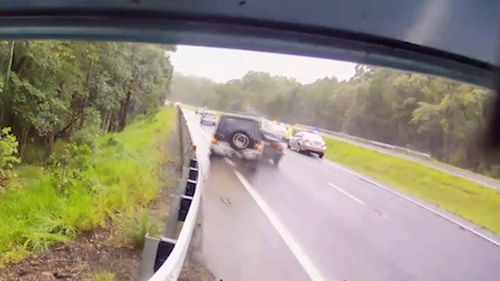 Dash cams capture the biggest bingles on the road.