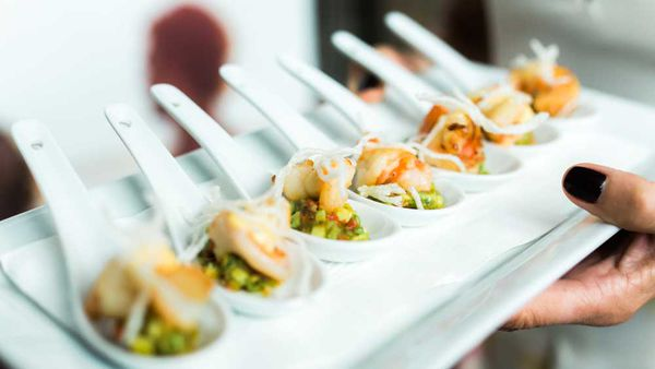 Spicy prawn and avocado with chipotle mayonnaise and crispy vermicelli. Image: Luke Mangan's Search for a CEO Competition Finalist Michelle Walsh