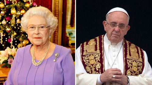 Queen, Pope call for peace and reconciliation across the world in Christmas messages