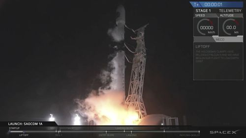The primary purpose of the mission was to place the SAOCOM 1A satellite into orbit, but SpaceX also wanted to expand its recovery of first stages to its launch site at the Air Force base