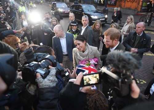 The Brixton visit was their second official outing since the engagement. (AAP)