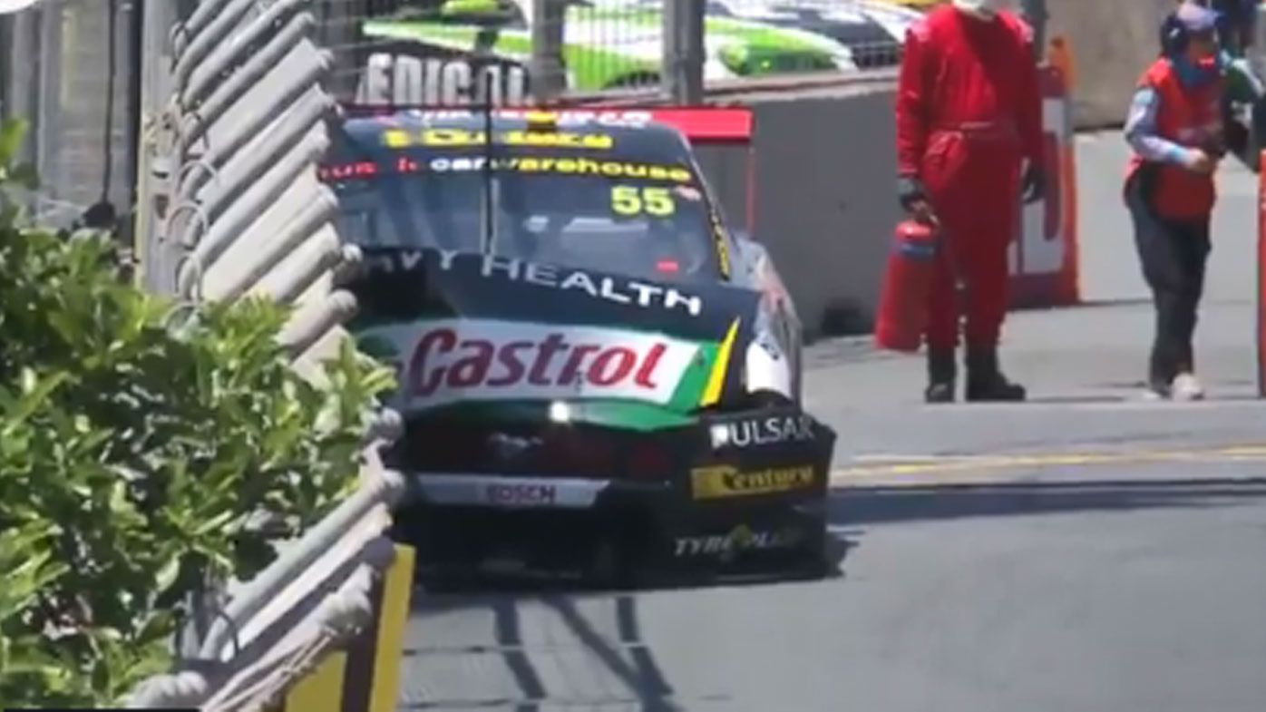 Chaz Mostert goes into the wall