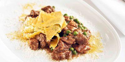 Pasta with lamb & peas (maltagliati con agnello e piselli)