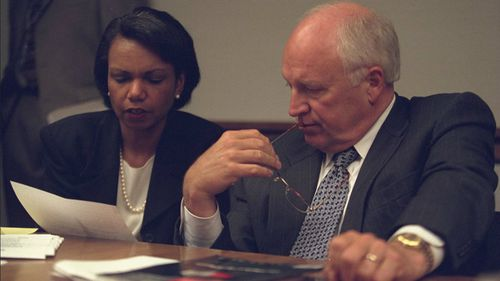 Former Vice President Dick Cheney and then-National Security Adviser Condoleezza Rice. (US National Archives)