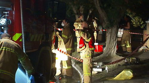 Emergency services were able to limit the damage to the front section of the house. (9NEWS)