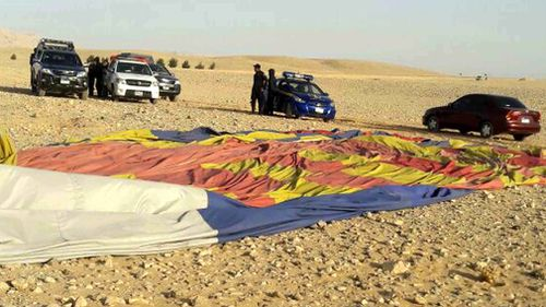 Police officers have inspected the hot air balloon crash site. (AAP)