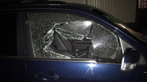 At least 10 cars were damaged during the crime spree. (Twitter/ Michael O'Brien)