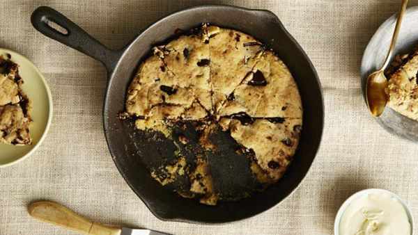 I Quit Sugar's choc chip skillet cookie