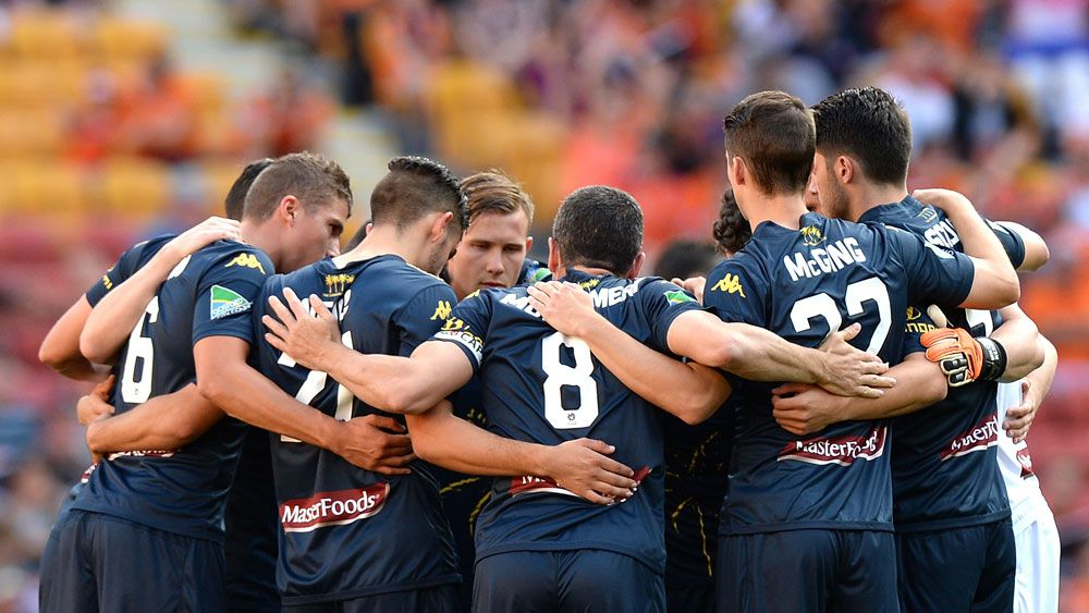 Central Coast Mariners players. (Getty)