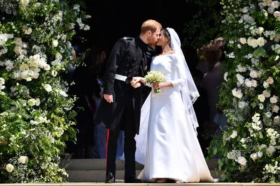 Floral arrangements of Meghan's spring wedding to Prince Harry.