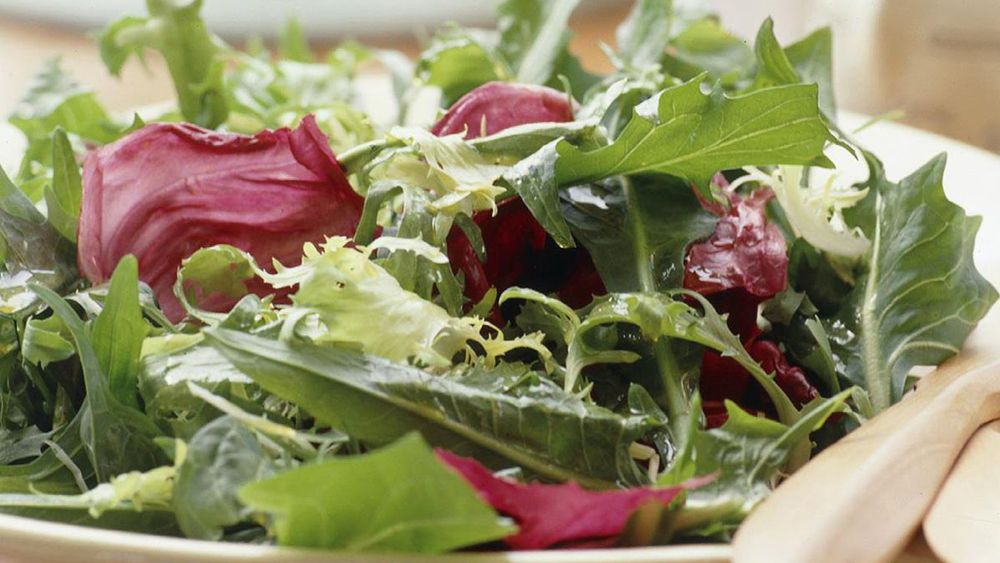 Bitter lettuce salad