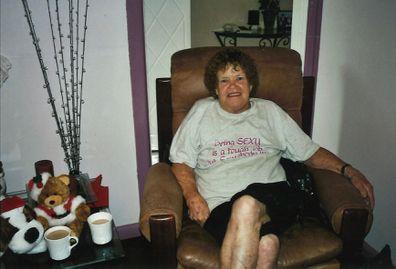 Woman has mammogram