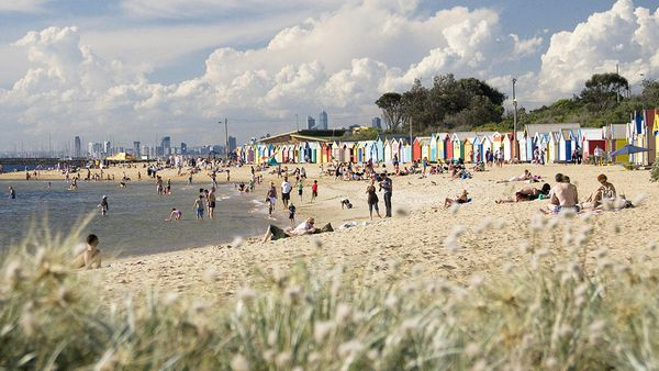 Bathing boxes at Brighton Beach (Bayside City Council)