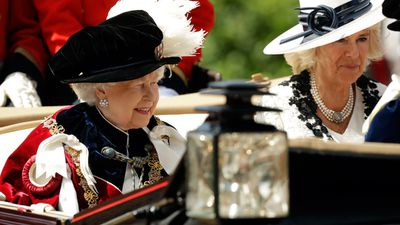 QUEEN ATTENDS ORDER OF THE GARTER