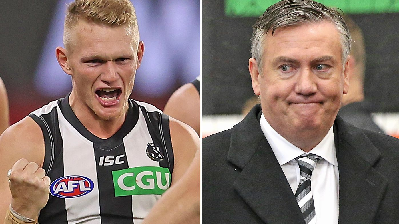 Collingwood president Eddie McGuire reacts to rumours of Adam Treloar departing Magpies for Queensland