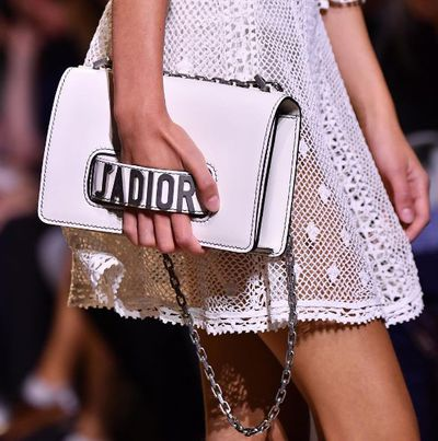 Maria Grazia Chiuri may have delivered the equivalent to Valentino's rockstud handbag with her debut show as designer at Christian Dior. The message is strong and simple.