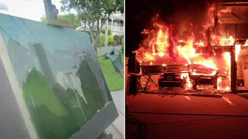 Fire destroys home and painter's priceless works