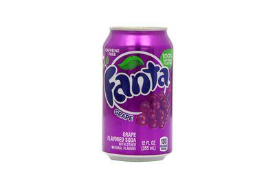Fanta Grape: 12.4g sugar per 100ml