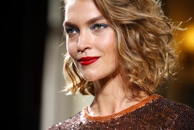 <p>A bold red lip teamed with a rebellious blue eye streak? Bring that s*&t on we say. It's ultimate chic with a touch of the unexpected.</p> <p>We like.</p> <p>Image: Getty.</p>