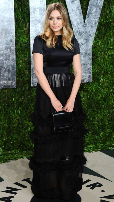 In Christian Dior for the 2012 <i>Vanity Fair</i> Oscar party.