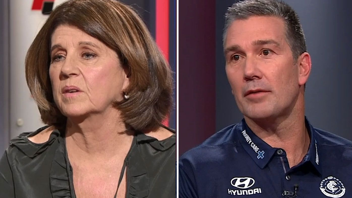 "Carlton list manager Stephen Silvagni faces off with Caroline Wilson over ""untrue"" claims"