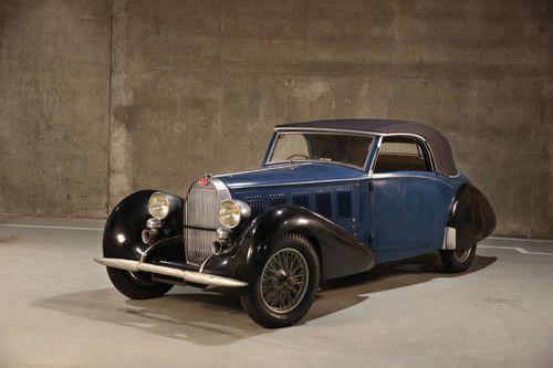 The 1937 Bugatti Type 57 Cabriolet.