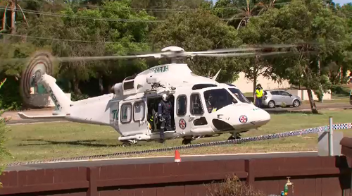 An emergency helicopter was called to Anzac Parade after reports a man had been hit by a car.