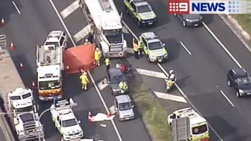 The accident caused major traffic delays. (9NEWS)