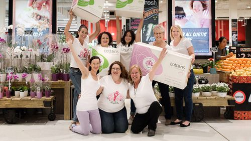 Some of the Share the Dignity team celebrate the charity's partnership with Cottons. (Share the Dignity)