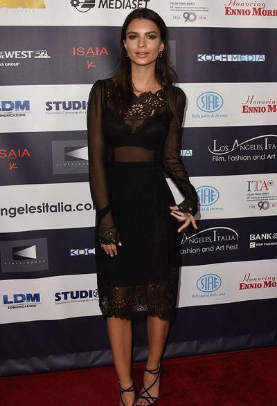 Emily Ratajkowski  in Dolce & Gabbana at the Italian Film Festival in Los Angeles, June, 2017