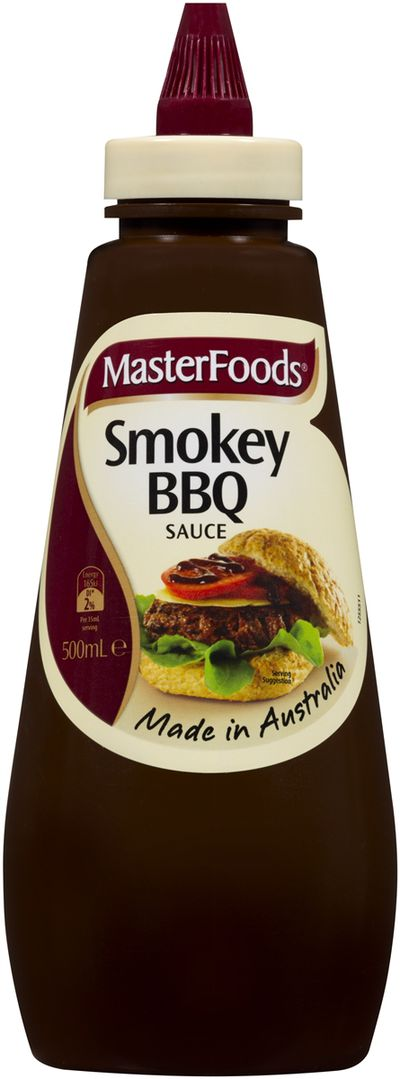 <strong>Masterfoods Smokey BBQ Sauce (41.1 grams of sugar per 100ml)</strong>