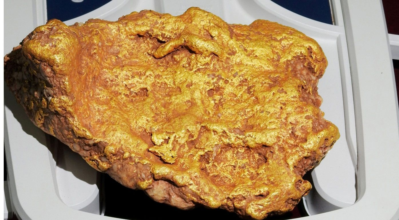 The gold nugget found on a prospecting site in Bunbury.
