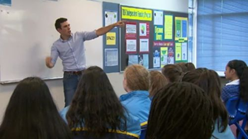 Mr Pentingill has developed two mantras that he preaches in inspirational talks. (9NEWS)