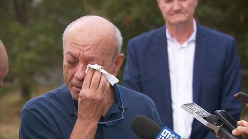 Saeed Maasarwe fights back tears as he thanks authorities and the Australian community for their support.
